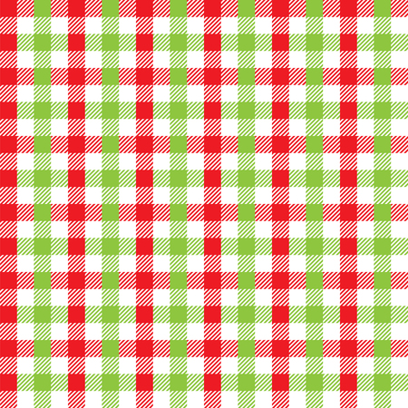Seamless Christmas Gingham Pattern
