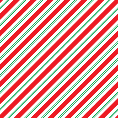 Seamless Christmas Stripe Wrapping Paper Pattern  イラスト・ベクター素材