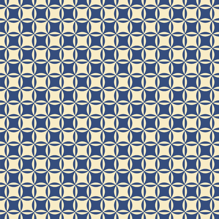 Seamless vintage Intersecting circle pattern background texture Ilustração