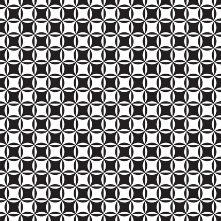Seamless vintage Intersecting circle pattern background texture Illustration
