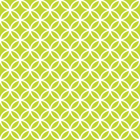 Seamless Intersecting Lime Green Circle Pattern