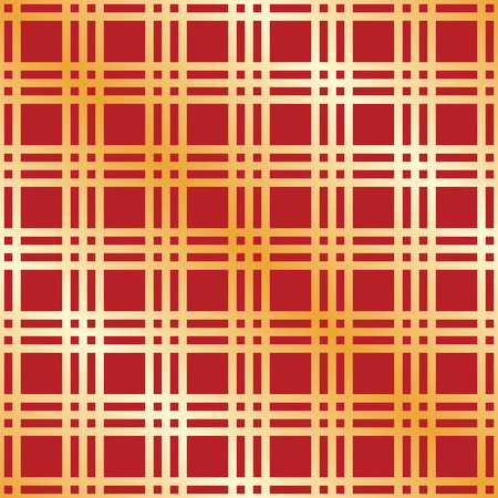red wallpaper: Seamless Christmas check wrapping paper pattern Illustration