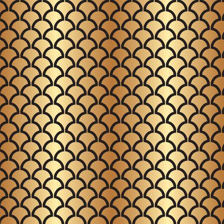 Abstract Seamless Art Deco Vector Pattern Texture Ilustração