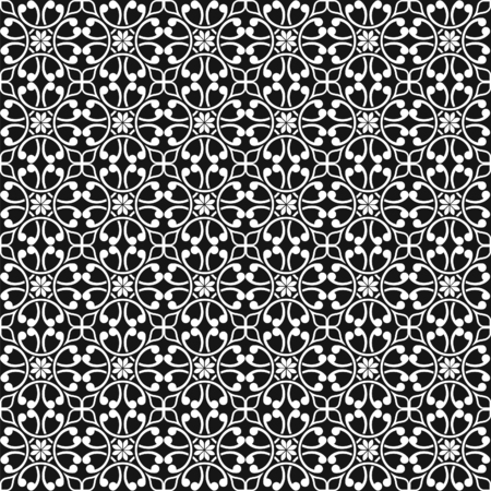 ornamental pattern: Seamless Vintage Ornamental Pattern