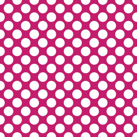 Seamless fuchsia polka dots pattern texture background