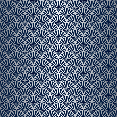 Seamless Art Deco Pattern with Silver Gradient