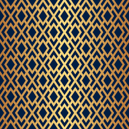 Seamless Abstract Gold Art Deco Lattice Vector Pattern Ilustracja