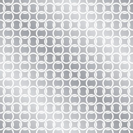 Seamless Circle Chain Interlink Pattern Background Texture Ilustração
