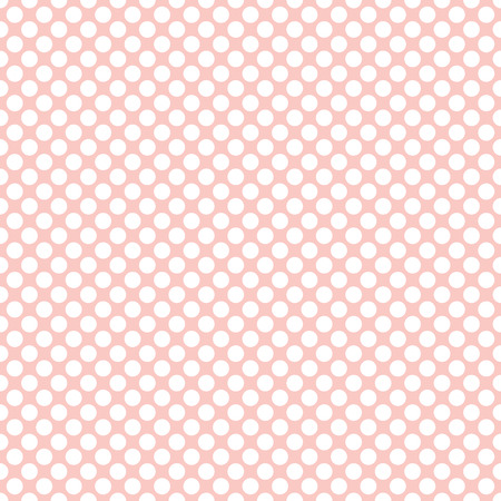 Seamless rose quartz pink polka dots pattern texture background Illustration