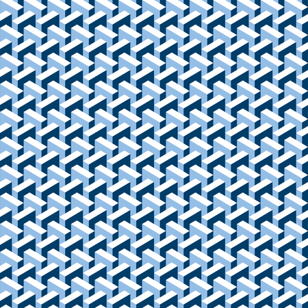 textile industry: Seamless abstract 3d construction block pattern