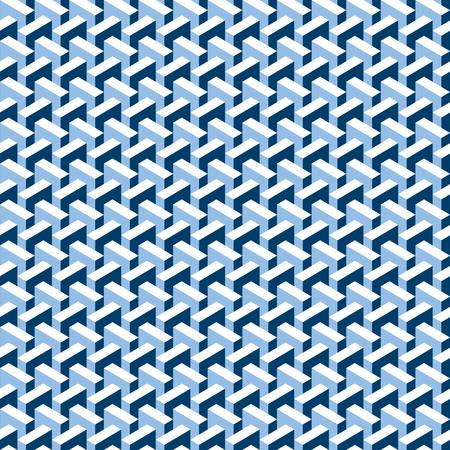 Seamless abstract 3d construction block pattern