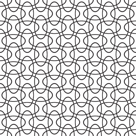 Seamless intersecting geometric overlapping circle elipse pattern background