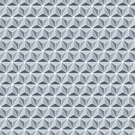 Seamless silver faceted polyhedral background pattern texture Ilustração