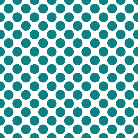 Seamless teal green dots pattern vector background texture 矢量图像