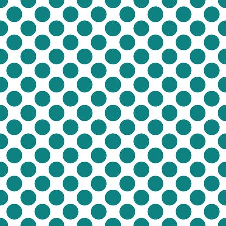 Seamless teal green dots pattern vector background texture Ilustração
