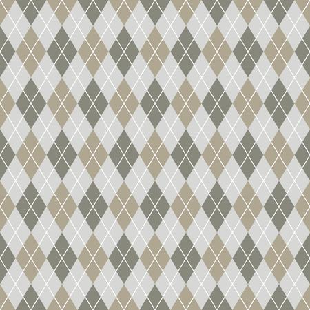 twill: Seamless argyle pattern background. Grey and white pattern.