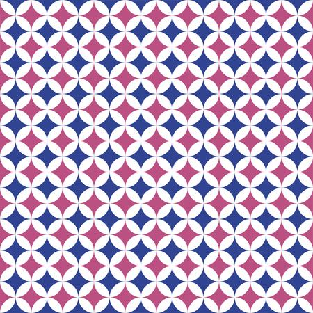 Seamless Intersecting Geometric Circle Pattern