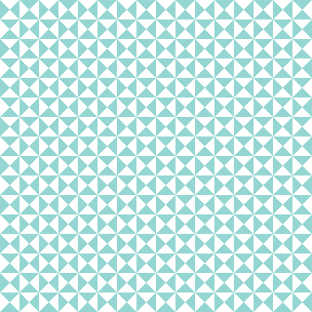 Seamless mint green geometric triangle pattern background Illustration