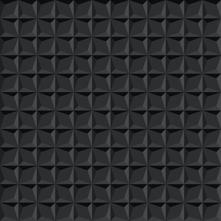 Seamless black abstract geometric dark shadow facet pattern Vetores