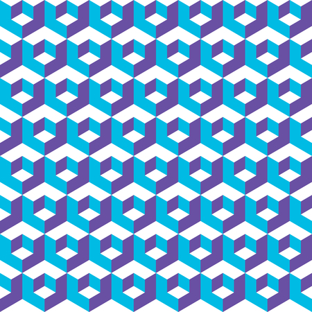 Seamless abstract vector geometric isometric cube pattern background Illustration