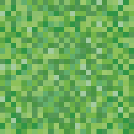 Seamless pixelated grass texture mapping background for various digital applications
