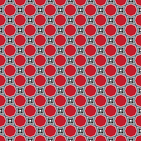Seamless abstract geometric vintage octagon pattern