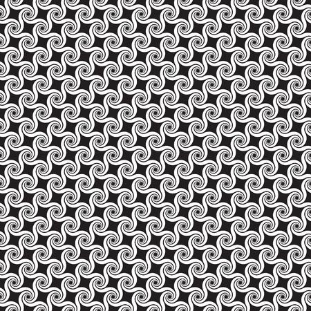 Seamless abstract spiral swirl pattern background Illustration