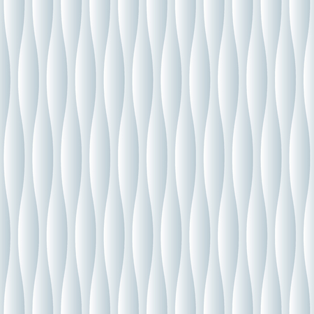Seamless abstract white relief wave surface texture pattern Illustration