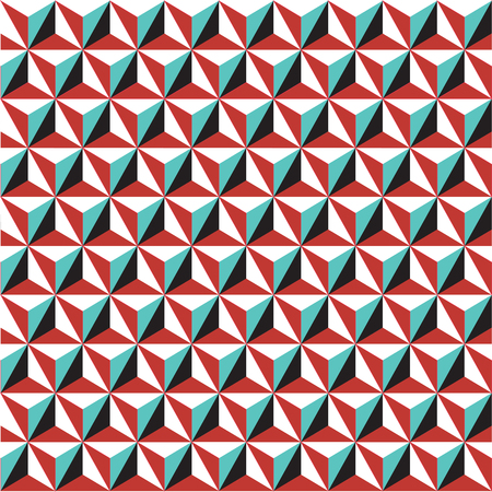 polyhedral: Seamless geometric Art Deco background pattern