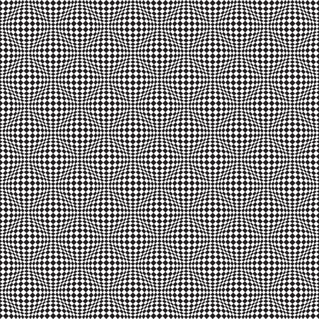 Seamless Op Art Distortion Pattern in Vector Format