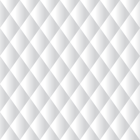 Seamless White Diamond Padded Panel Diagonal