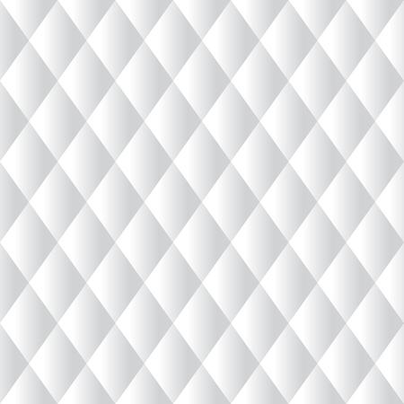 Seamless White Diamond Padded Panel Diagonal