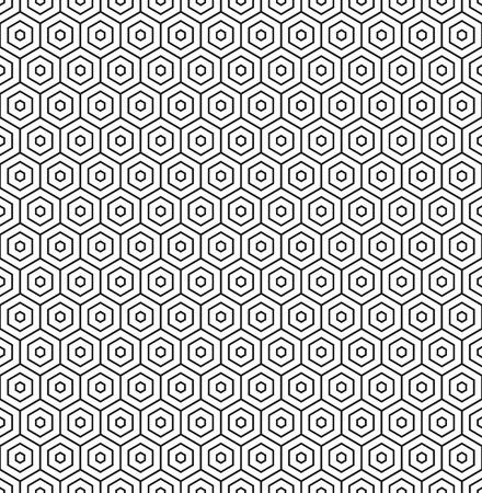 Seamless geometric hexagon honeycomb pattern