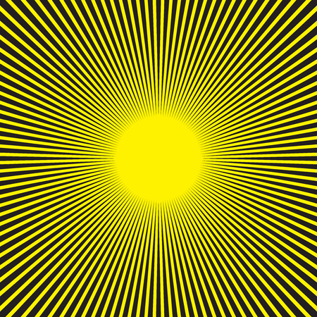 Sunburst radial pattern in black and yellow