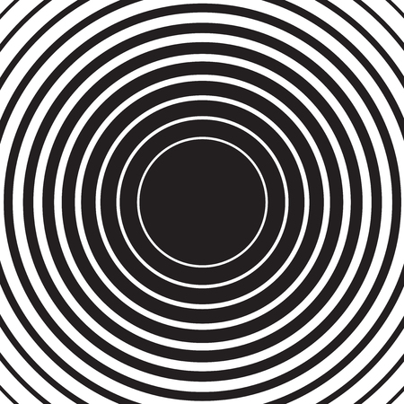 Black radial concentric circle ripple background Illustration
