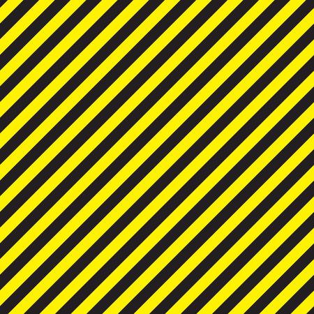 Seamless chevron diagonal black and yellow warning stripes Illustration