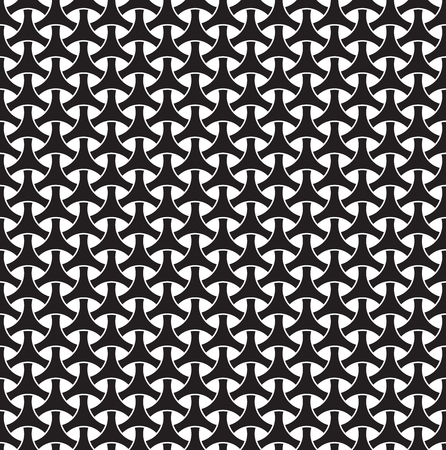 Seamless circle weave geometric pattern Illustration