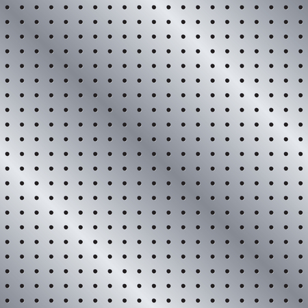 A Seamless Metal Pegboard Vector Background