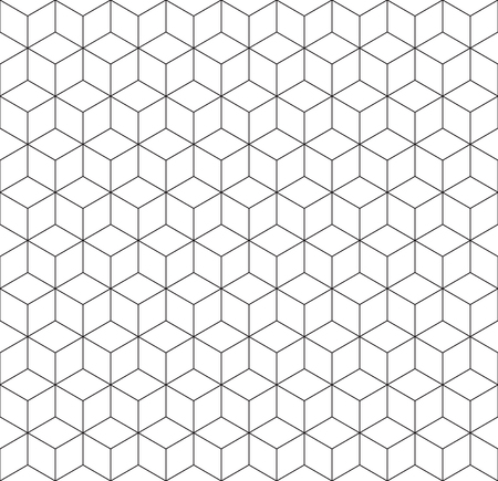 Seamless 3d wireframe cube pattern Иллюстрация