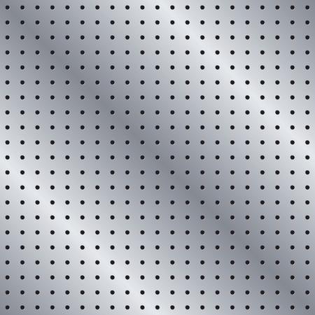Nahtlose Metall-Pegboard-Muster-Hintergrund-Textur