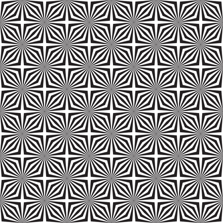 Seamless op art optical illusion pattern background