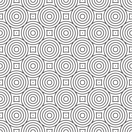 Seamless concentric circle pattern background Ilustração