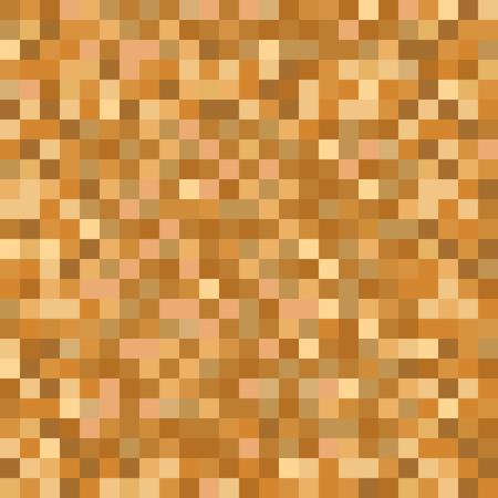 Modèle de mosaïque de pixel brun doré sans soudure. Arrière-plan de mappage de texture abstraite en métal doré pixélisé pour diverses applications numériques. Vecteurs