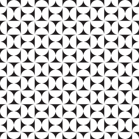 Seamless abstract geometric round curve check pattern