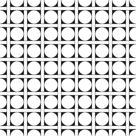 Seamless geometric dot and check weave pattern background Vektorgrafik