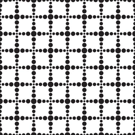 Seamless geometric dot stream line square pattern background