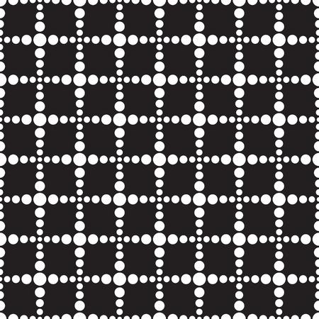 Seamless geometric dot stream line square pattern background Ilustración de vector