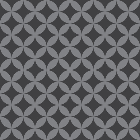 Seamless Intersecting Geometric Vintage Circle Pattern. Ideal for use in labels, packaging and other design applications.