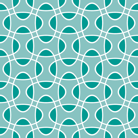 Seamless intersecting geometric overlapping ellipse circle pattern background Vector Illustratie