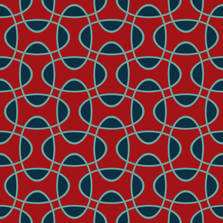 Seamless intersecting geometric overlapping ellipse circle pattern background